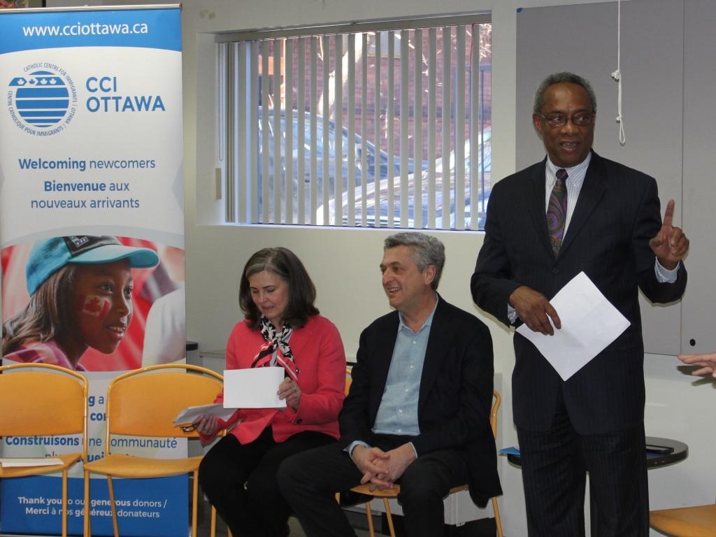Deputy Minister Anita Bigusz, UNHCR High Commissioner Filippo Grandi and CCI Executive Director Carl Nicholson