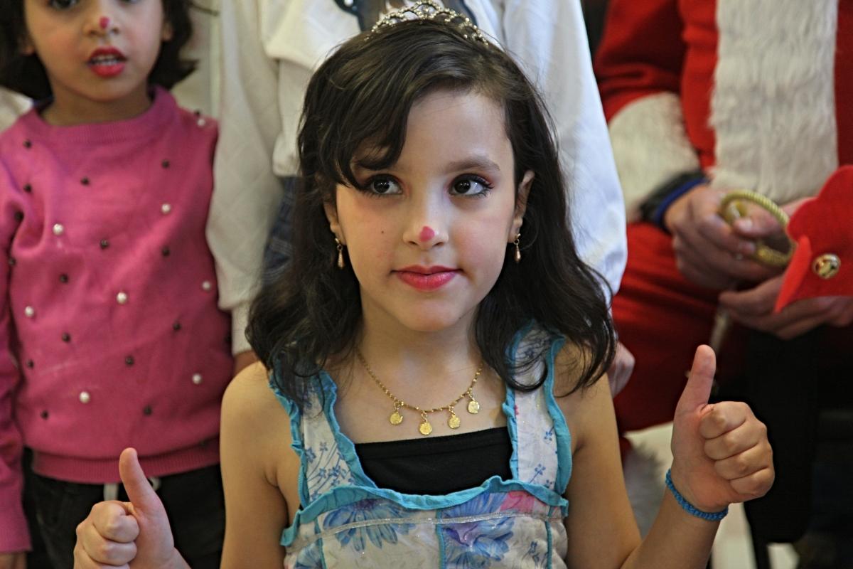 Girl performs in children's choir