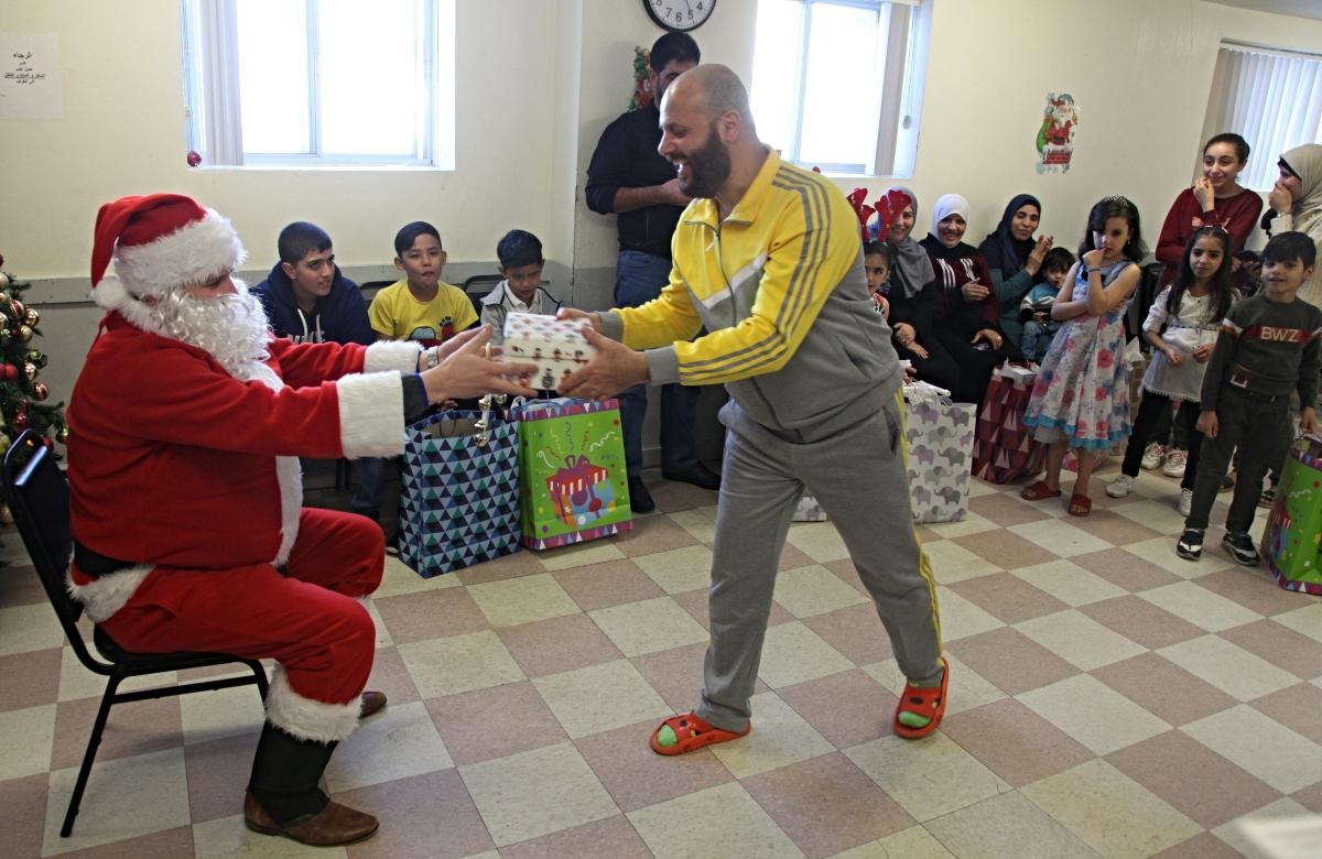 Man receives gift from Santa