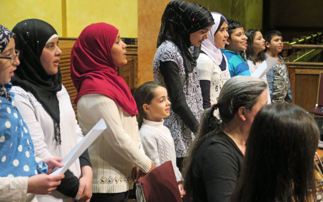 Syrians join concert for peace