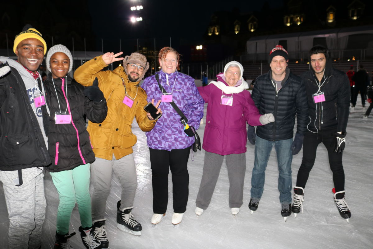 Group of people on skates