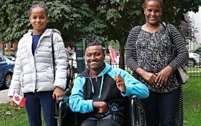 Family escapes refugee camp